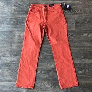 NYDJ Straight Leg Jeans Vintage Rose Size 14P
